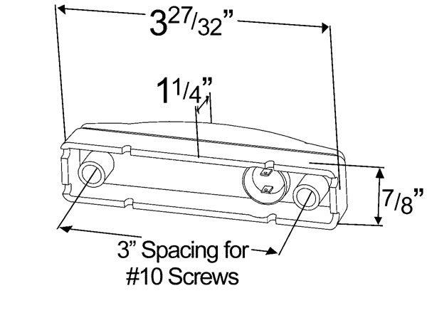 Grote 47242 3 SuperNova Thin-Line LED Clearance Marker